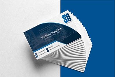 """визитка для """"sm – construction"""""""